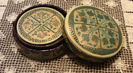 Vintage Lacquered Coaster Set in Box Kashmiri Paper Mache Made in India - $14.00