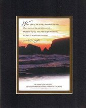When peace, like a river . . . 8 x 10 Inches Biblical/Religious Verses set in Do - $11.14