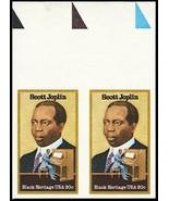2044a, Mint NH 20¢ Scott Joplin Imperforate ERROR Pair - Stuart Katz - $290.00