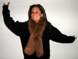 Alpaca pelt stola,brown fur scarf, cosy neckwarmer - $136.00