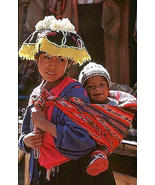 Original peruvian Baby-Sling,typical from Peru White Red Stripes  - $52.00