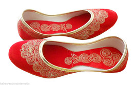 Women Shoes Indian Handmade Casual Leather Ballerinas Flats Jutti US 6.5  - $24.99