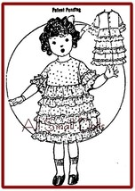 "Vintage/Antique Ruffled Dress for 16"" Doll - $5.99"