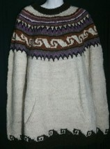 Vintage Touching Cultures Handmade Wool Sweater Fair Isle Extra Large XL    - $24.74