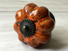 Orange Brown Pumpkin Dresser Knob Drawer Knobs Pull Kitchen Cabinet Door... - $5.50