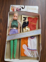 1980 Uneeda Donna fasion doll with 3 extra outfits & accessories - $50.00