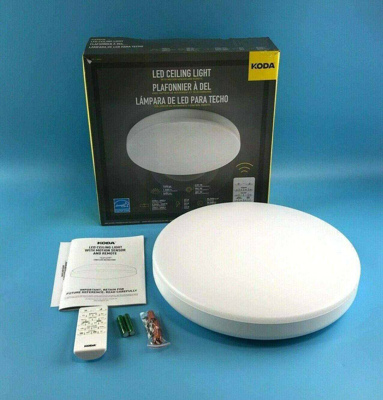 KODA LED Ceiling Light 1165831 w/ Motion Activated Sensor ...