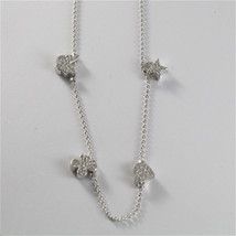 925 RHODIUM SILVER JACK&CO NECKLACE STAR BUTTERFLY HEART CLOVER MADE IN ITALY image 4