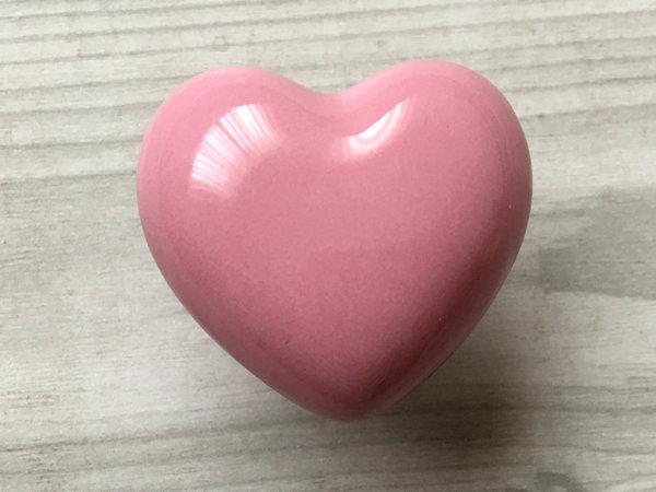 Pink Heart Knobs Kids Dresser Knob Drawer Knob Pulls Handles Ceramic Decorative