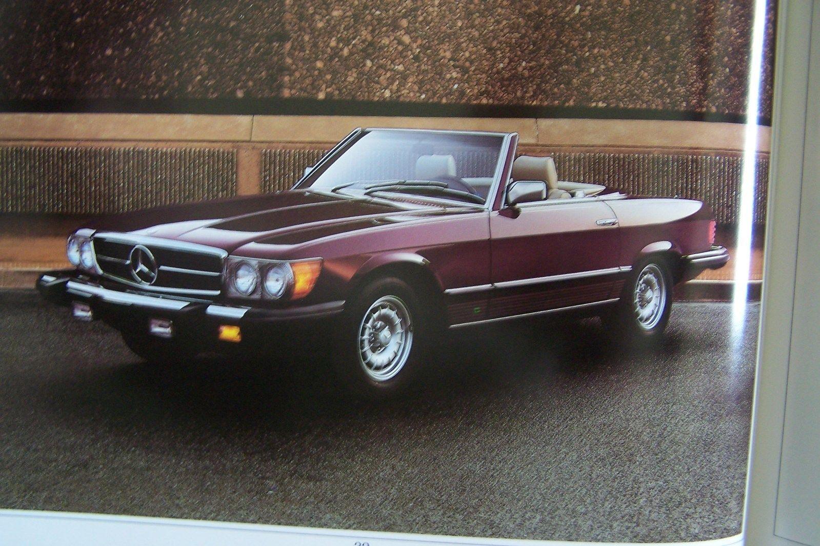 1981 Mercedes Owners Color Chart w107 w123 sales brochure 380sl 300d 300cd w126