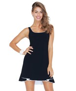 Profile by Gottex Women's Belle Curves Tank Dress Swim Cover Up Black/Wh... - $71.99