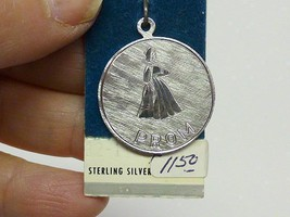 1970 Retro Sterling Silver PROM Charm Original MINT on Card - $7.99