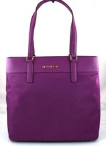 AUTHENTIC NEW NWT MICHAEL KORS MORGAN PURPLE POMEGRANATE TOTE - $85.00