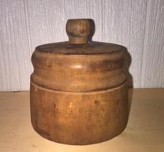 Antique Primitive Wood Butter Mold, Stamp - $36.50
