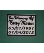 IN MEMORY OF CUSTOM BIKER PATCH PATCHES + CHOOSE COLORS + FONT *UP TO 5X... - $8.99