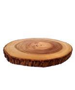 Rustic Tree Bark Wood Cutting Board Wood Slice Rustic Wood Charger Cupca... - $55.00