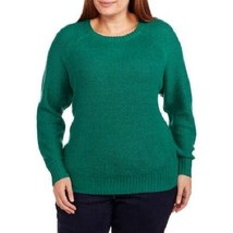 CUTE NEW CONCEPTS WOMENS PLUS SIZE 4X 26W 28W WARM GREEN ZIP UP BACK SWE... - $19.33