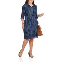 NEW FADED GLORY WOMENS PLUS SIZE 4X 26W 28W BLUE CHAMBRAY COLLARED SHIRT... - $390,75 MXN