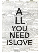 Art N Wordz All You Need Is Love Original Dicti... - $21.00