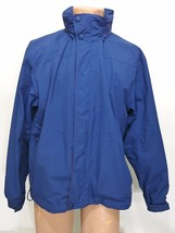 L.L. Bean Mens M Navy Blue Hooded Windbreaker Jacket Double Zipper for L... - $47.53