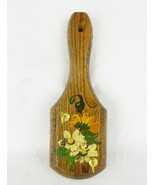 Vintage wood key hook hanger wall decor hand painted cottage home decor - $14.80