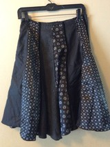 Circle R French Designed Black Charcoal Patchwork Sequin High Waisted Sk... - $19.34