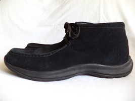 Lands End US 13 Black Suede Leather Chukka Trapper Boots Excellent - £68.07 GBP