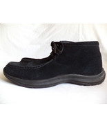 Lands End US 13 Black Suede Leather Chukka Trapper Boots Excellent - $89.43