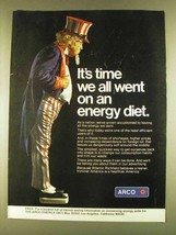 1980 ARCO Oil Ad - Time we All Went on an Energy Diet - $14.99