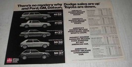 1980 Dodge Ad - Aires-K Wagon, Coupe, 024 Hatchback - $14.99