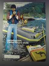 1980 Camel Filters Cigarettes Ad - Satisfaction - Rafting - $14.99