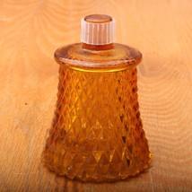 Vintage Indiana Glass Diamond Point Amber Glass... - $18.68
