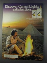 1980 Camel Lights Cigarettes Ad - Discover Satisfaction - Pyramid - $14.99