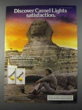 1980 Camel Lights Cigarettes Ad - Discover Satisfaction - Sphinx - $14.99