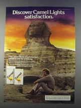 1980 Camel Lights Cigarettes Ad - Discover Satisfaction - $14.99