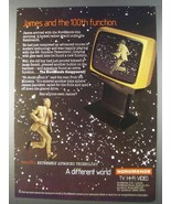 1980 NordMende Television Ad - James and 100th Function - $14.99