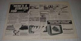 1980 Panasonic TC2205 Colour TV Set Ad - $14.99