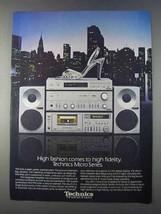 1980 Panasonic Technics Micro Series Stereo Ad - $14.99