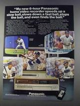 1980 Panasonic PV-1750 VHS Recorder Ad - Reggie Jackson - $14.99