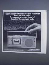 1980 Panasonic RN-500 Microcassette Recorder Ad - $14.99