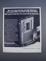 1980 Panasonic RN-006A Microcassette Recorder Ad - $14.99