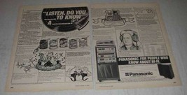 1980 Panasonic 2700 hi-fi system Ad - $14.99