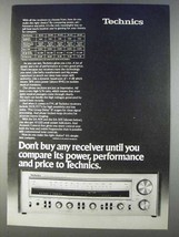 1980 Panasonic Technics SA-505 Receiver Ad - Power - $14.99