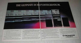1980 Pioneer X-900 Hi-Fi System Ad - The Ultimate - $14.99