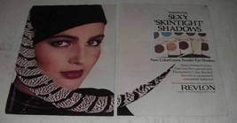 1980 Revlon ColorCreme Powder Eye Shadow Ad - Sexy - $14.99