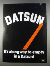 1980 Datsun Cars Ad - It's A Long Way to Empty - $14.99