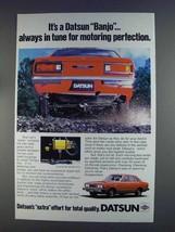 1980 Datsun Cars Ad - It's a Banjo in Tune - $14.99