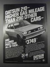 1980 Datsun 210 Car Ad - Higher Gas Mileage - $14.99