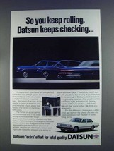 1980 Datsun Cars Ad - So You Keep Rolling - $14.99