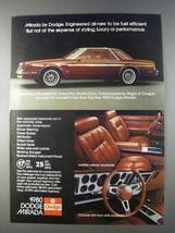 1980 Dodge Mirada Ad - Be Fuel Efficient - $14.99